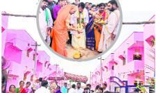 double bedroom homes started minister pocharam