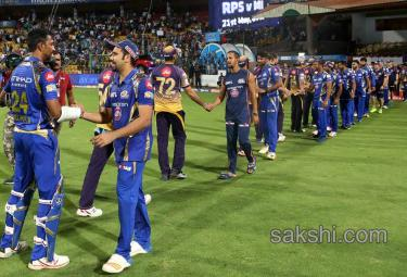 mumbai indians win by kolkata knight riders